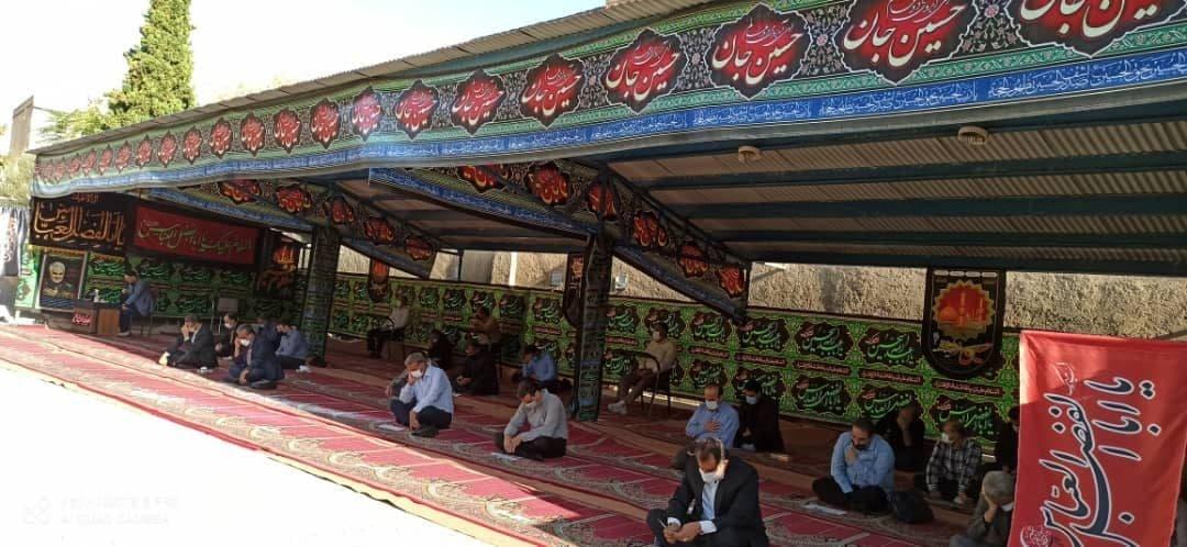 برگزاری مراسم عزاداری وزیارت عاشورا درمخابرات منطقه کرمانشاه
